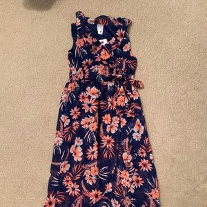 Other - Blue and Orange floral wrap dress